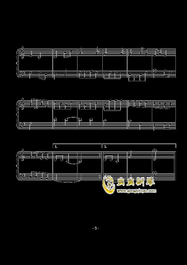 小前奏曲钢琴谱 第2页