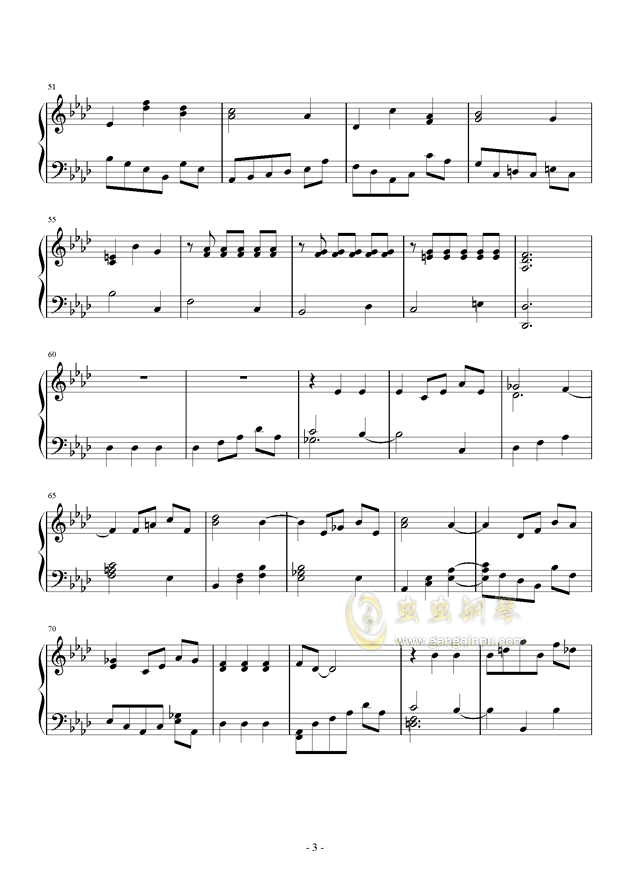 Romanza II钢琴谱 第3页