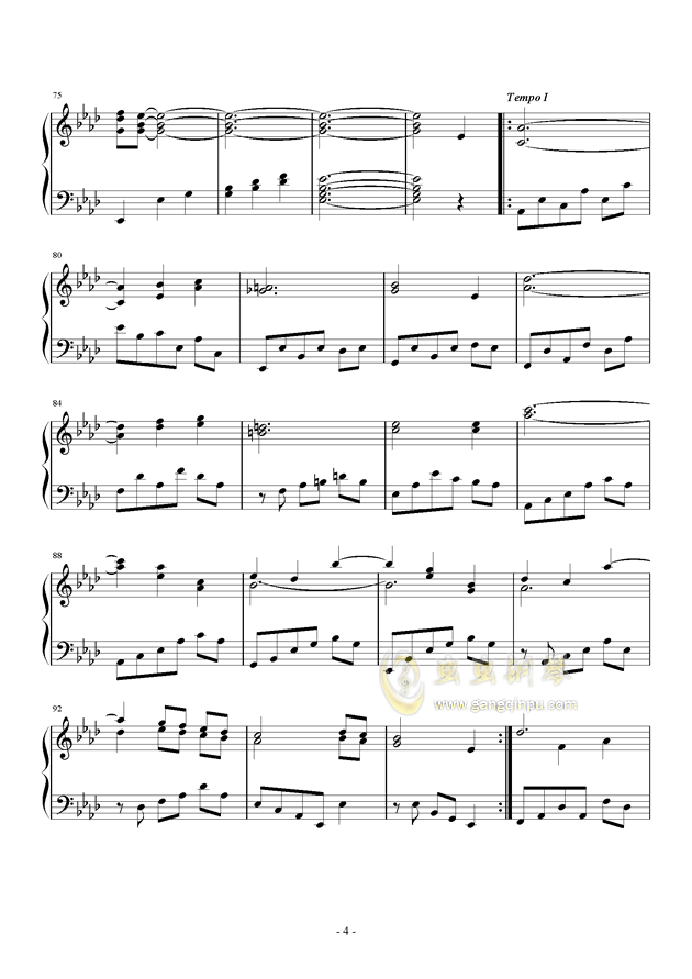 Romanza II钢琴谱 第4页