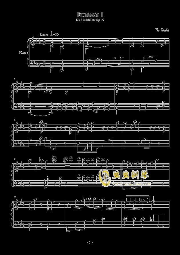 Fantasia I钢琴谱 第1页