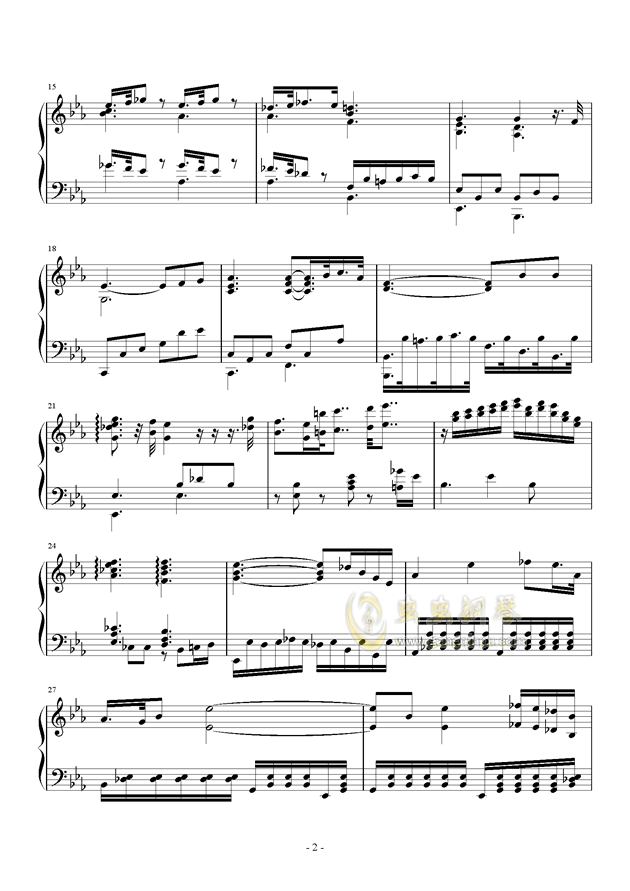 Fantasia I钢琴谱 第2页