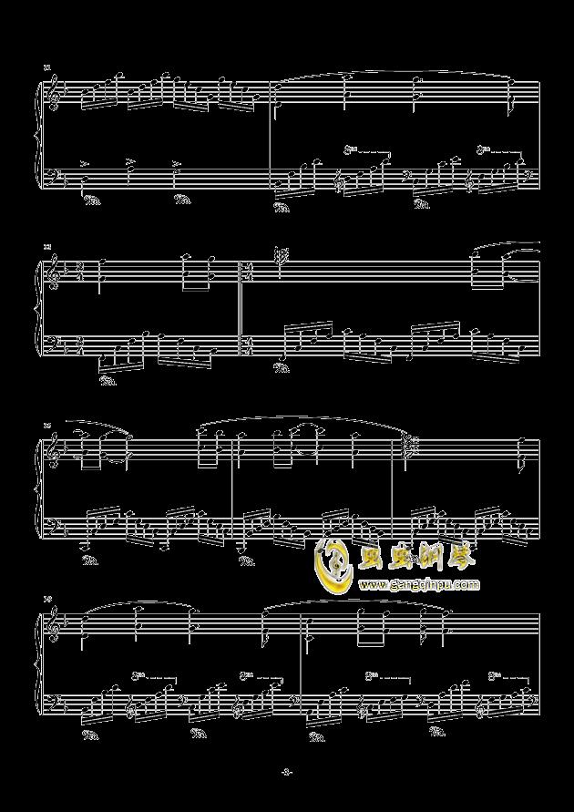 虫儿飞钢琴谱 第3页