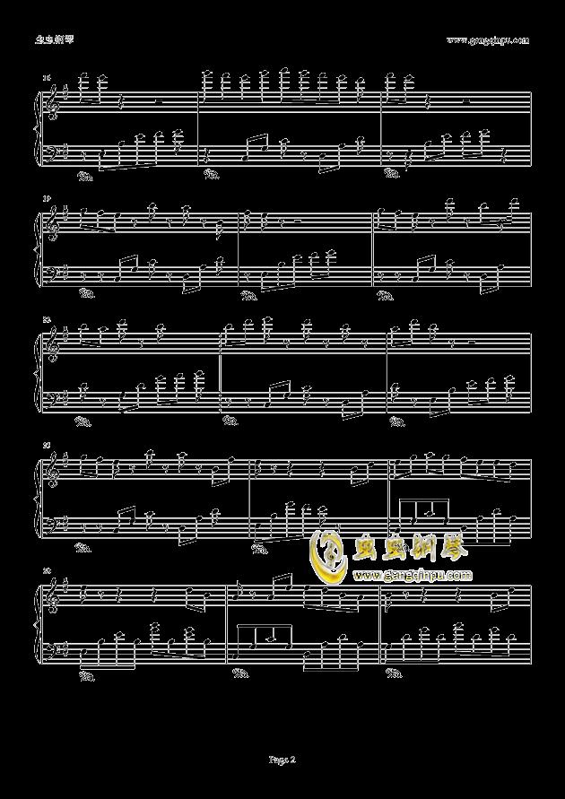 典狱司钢琴谱 第2页