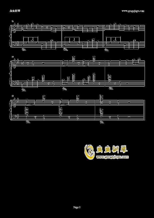 典狱司钢琴谱 第3页