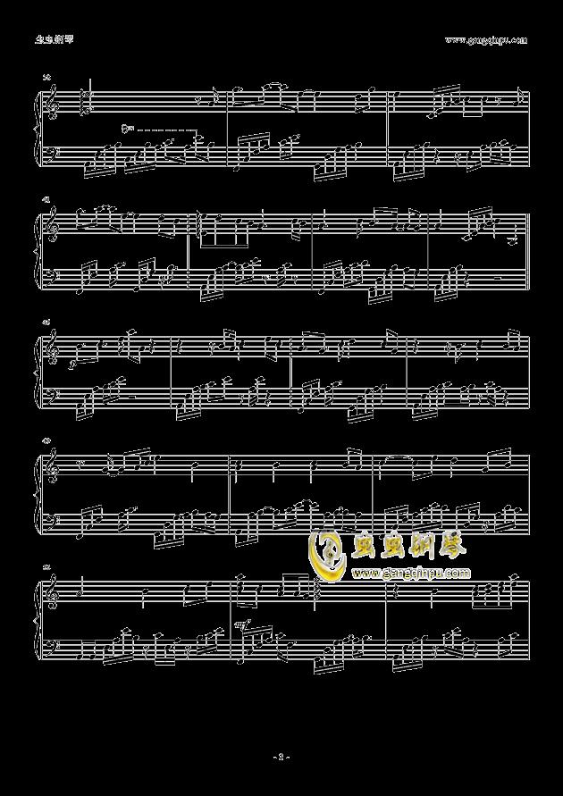 乱红钢琴谱 第3页