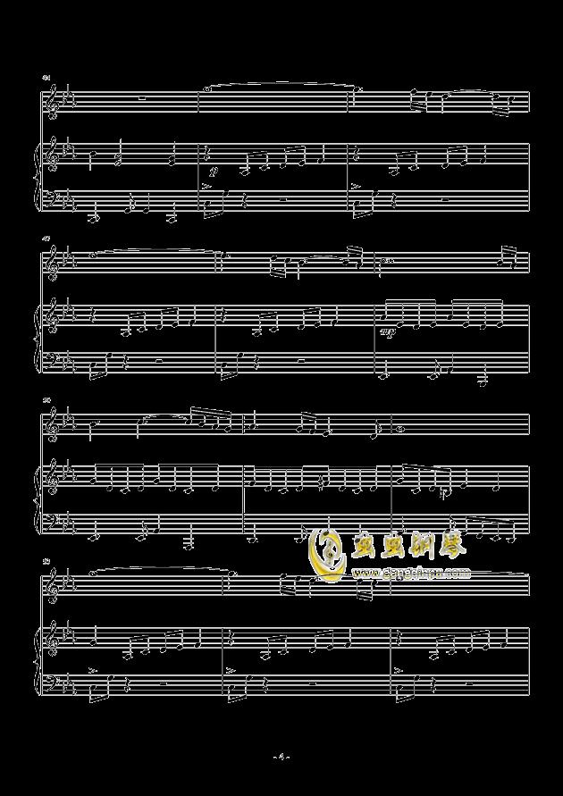 Oblivion钢琴谱 第4页