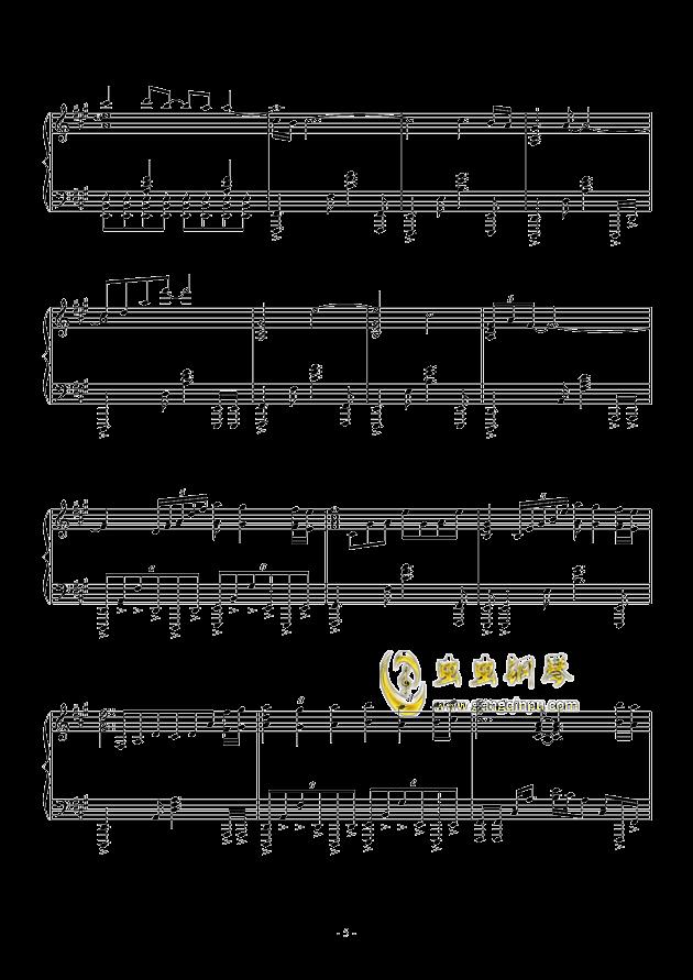�\命のル�`レット�hして钢琴谱 第5页
