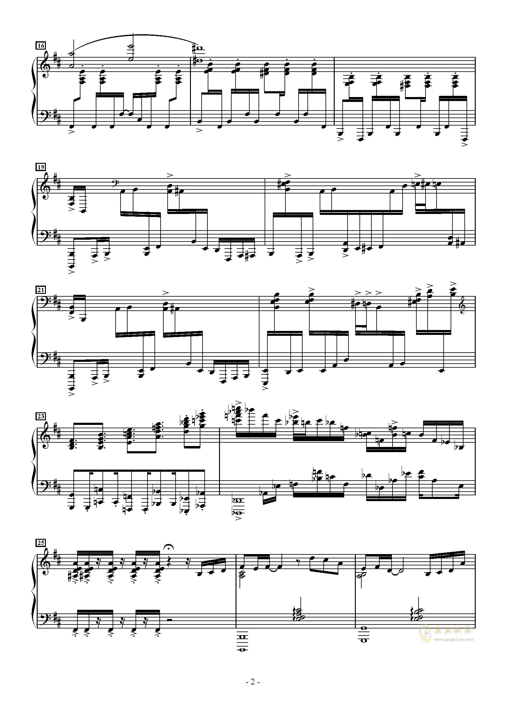 トッカ�`タ 2000钢琴谱 第2页