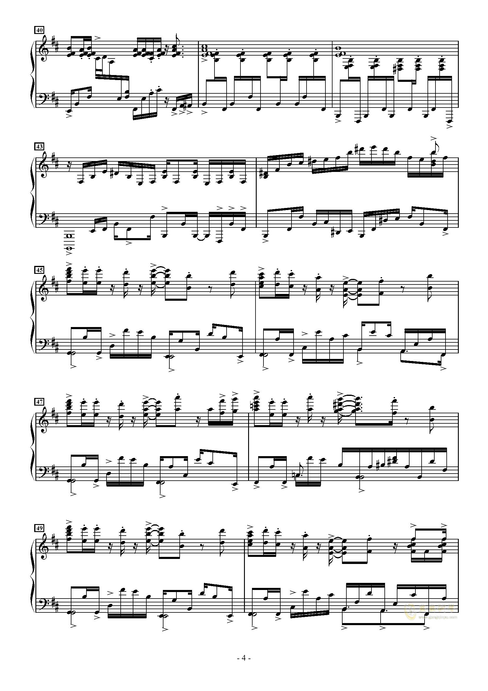 トッカ�`タ 2000钢琴谱 第4页
