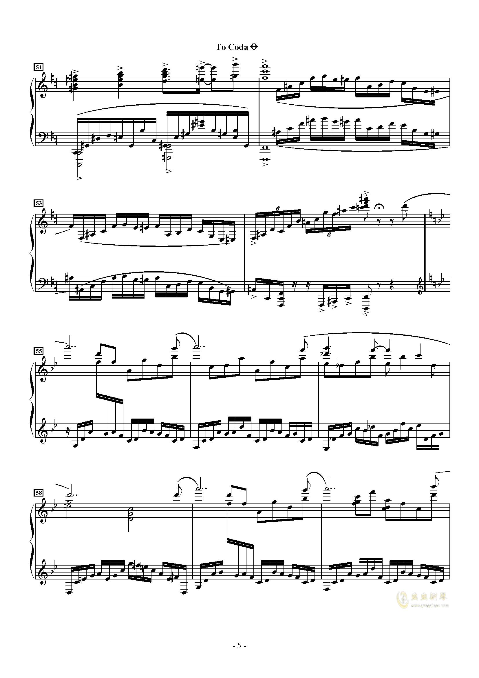 トッカ�`タ 2000钢琴谱 第5页