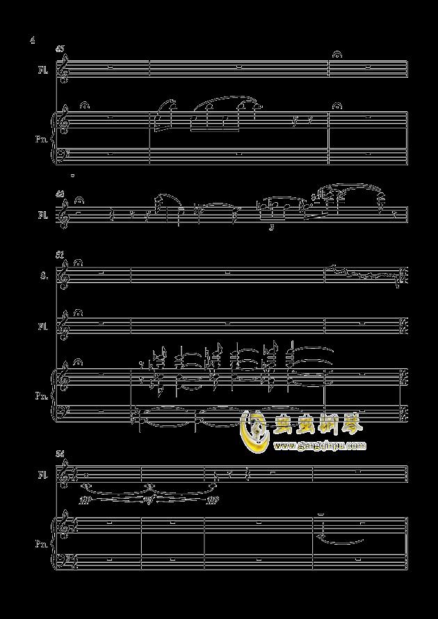 茉莉花钢琴谱 第4页