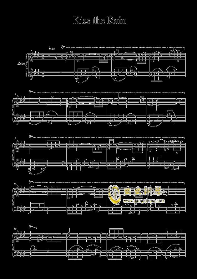 雨的印记钢琴谱 第1页