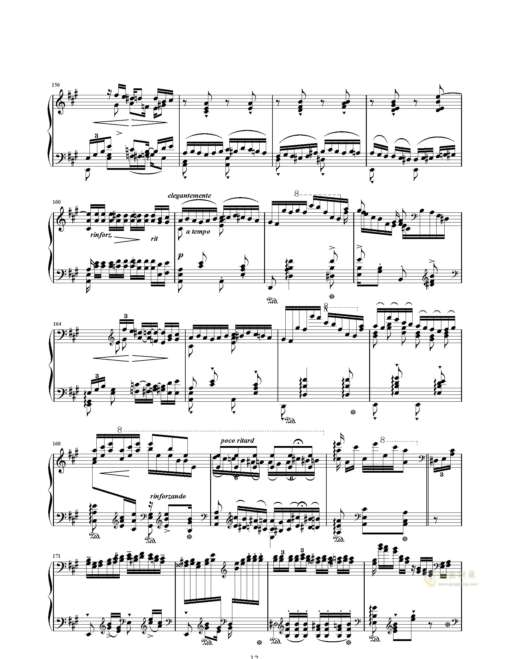 唐璜的回忆钢琴谱 第12页