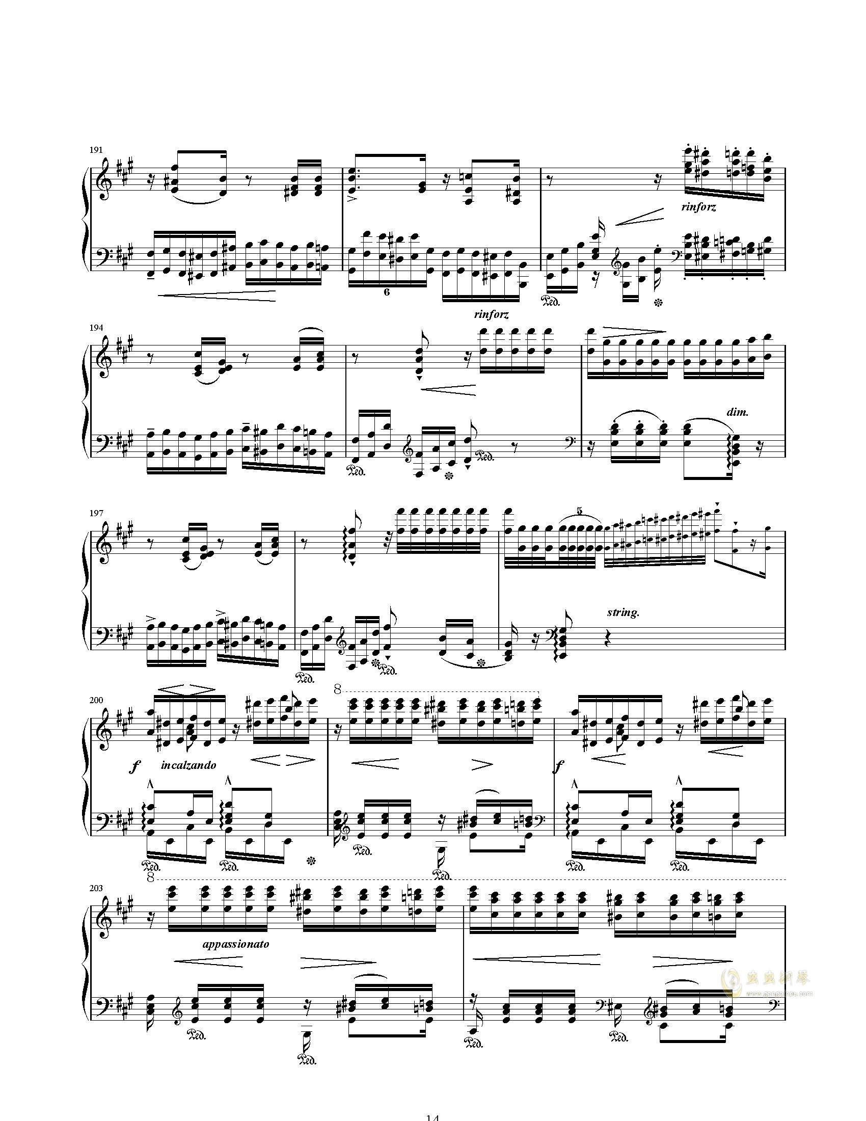 唐璜的回忆钢琴谱 第14页