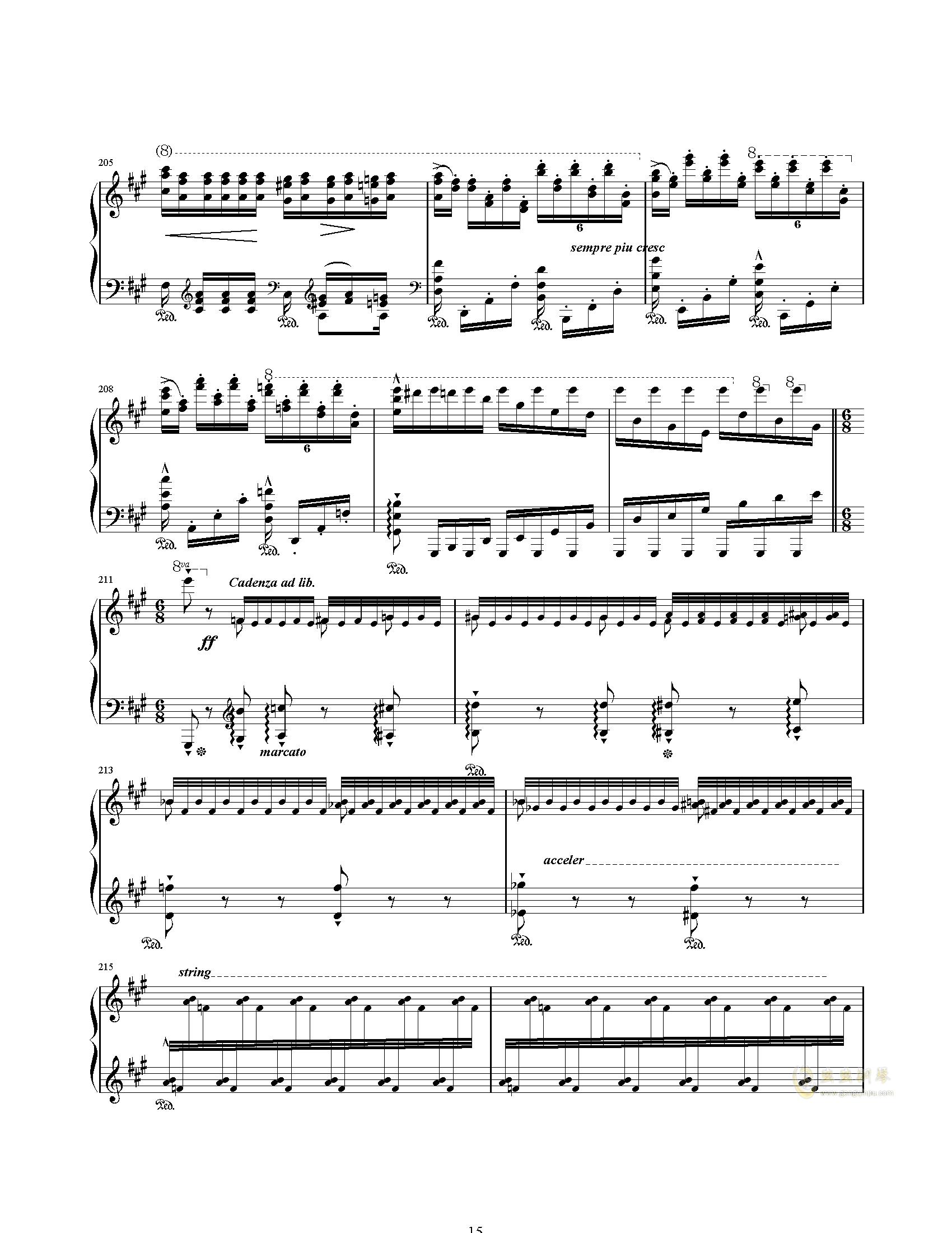 唐璜的回忆钢琴谱 第15页