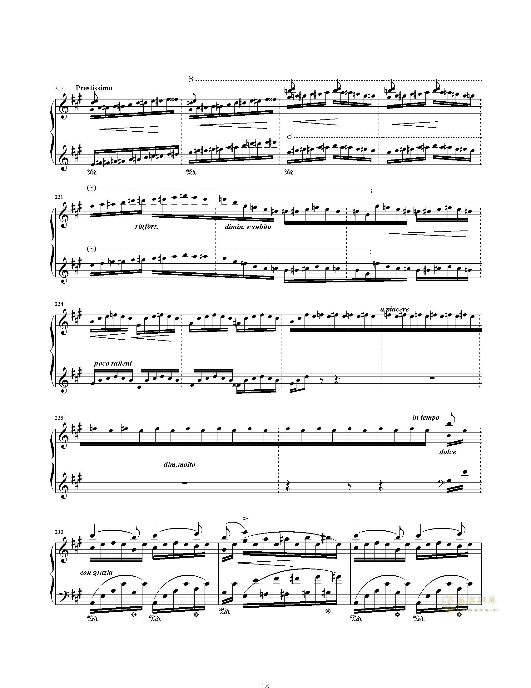 唐璜的回忆钢琴谱 第16页
