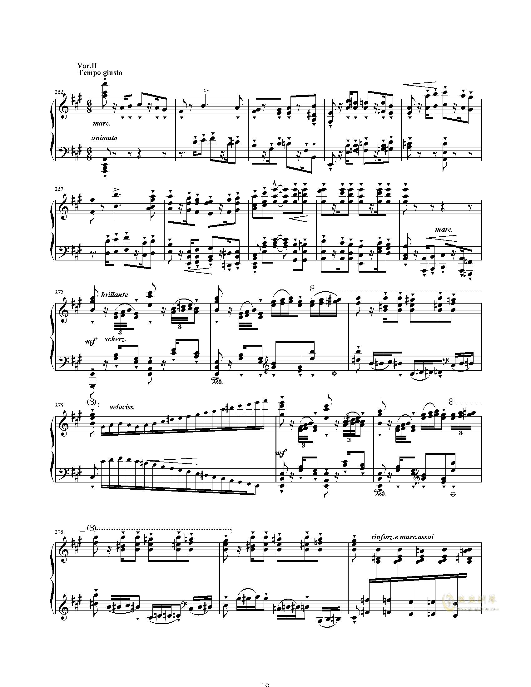 唐璜的回忆钢琴谱 第19页