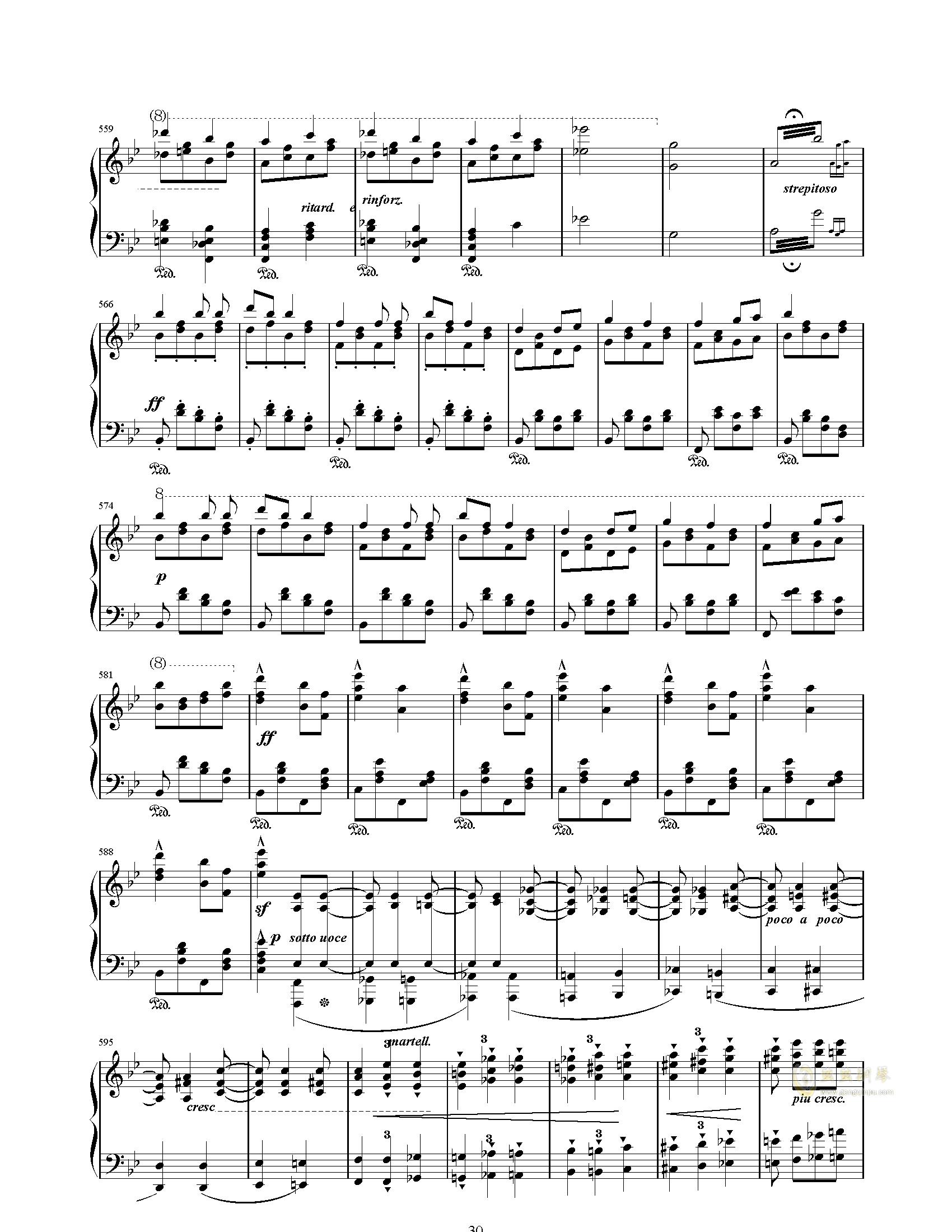 唐璜的回忆钢琴谱 第30页