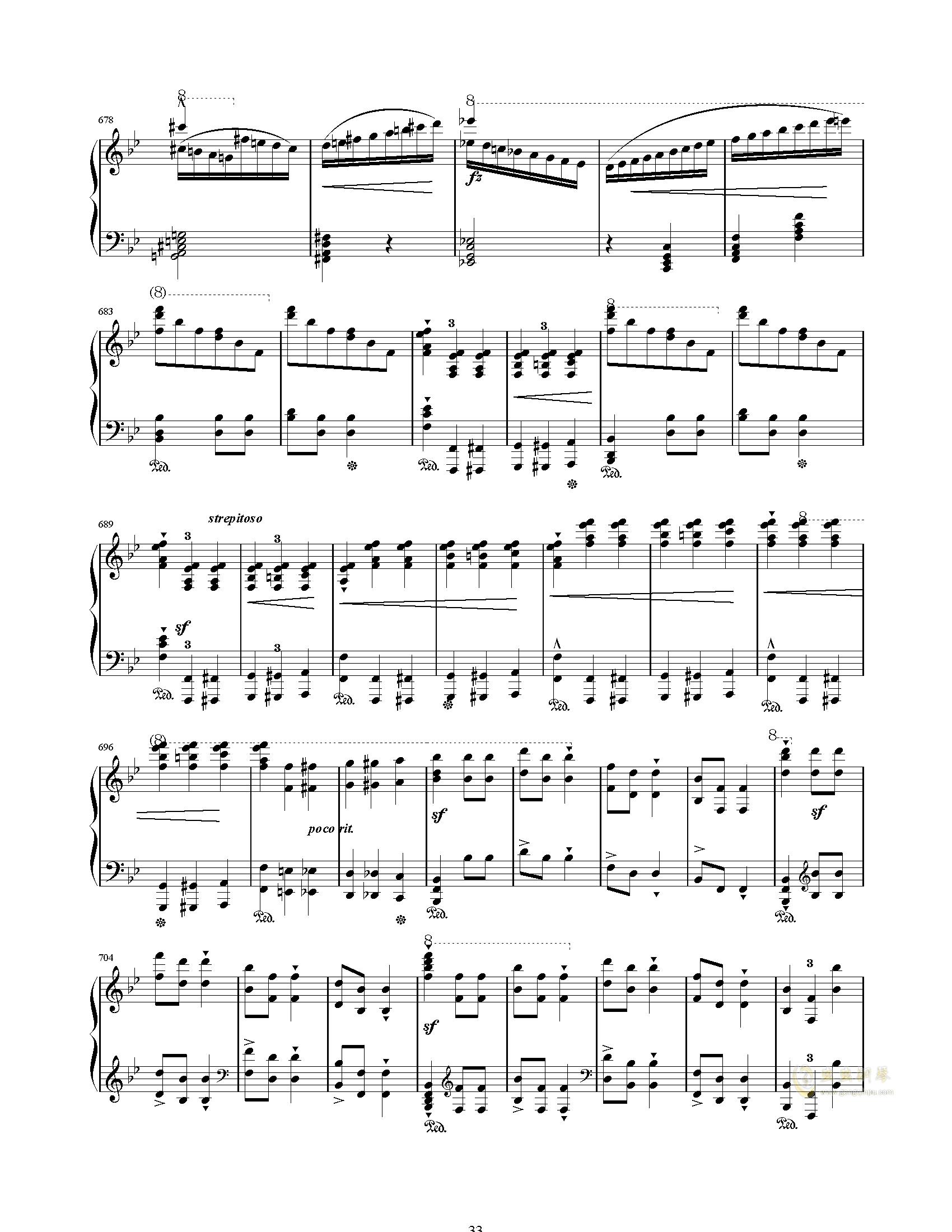 唐璜的回忆钢琴谱 第33页