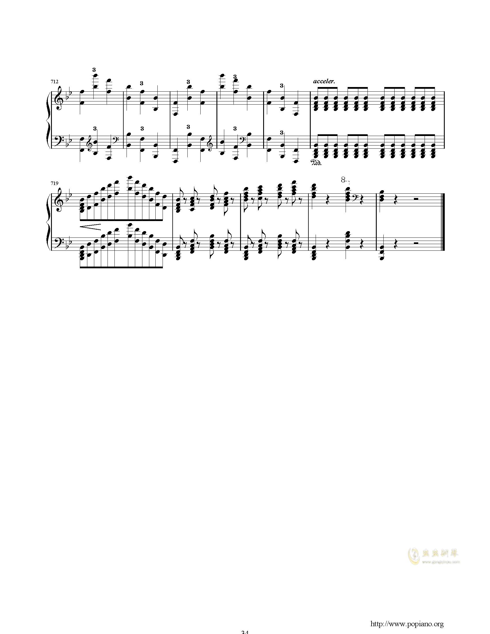 唐璜的回忆钢琴谱 第34页