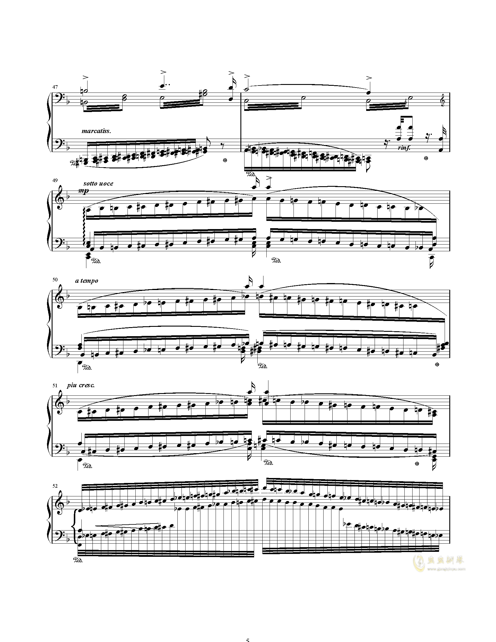 唐璜的回忆钢琴谱 第5页