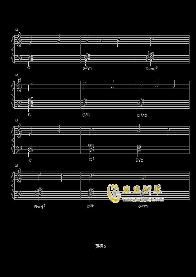 雪绒花钢琴谱 第2页