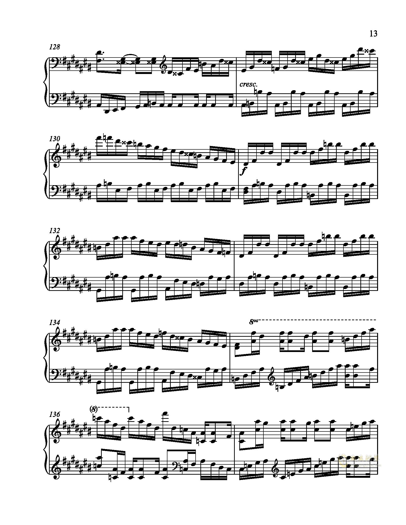辛普森B大调练习曲钢琴谱 第13页