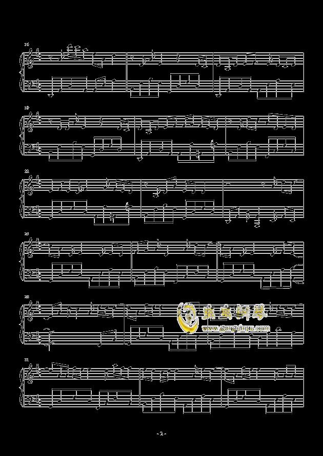 心做し钢琴谱 第2页