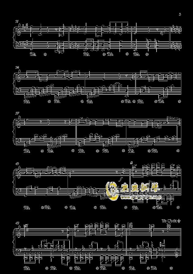情网钢琴谱 第3页