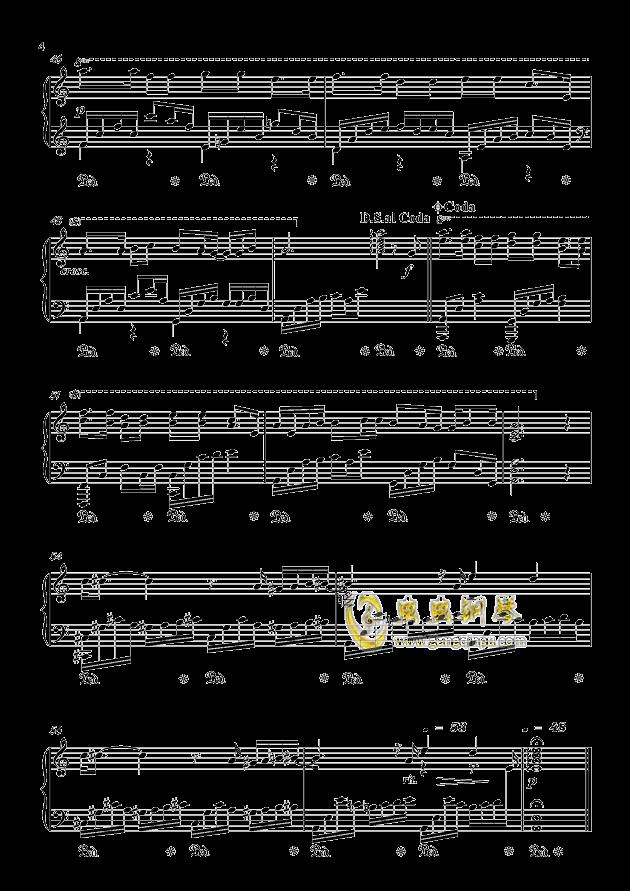 情网钢琴谱 第4页