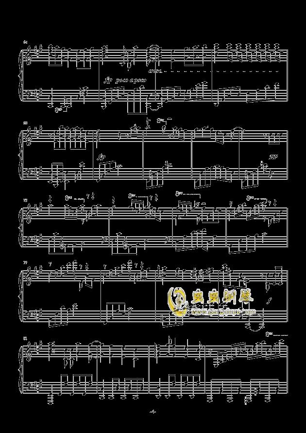 我们的战场钢琴谱 第4页