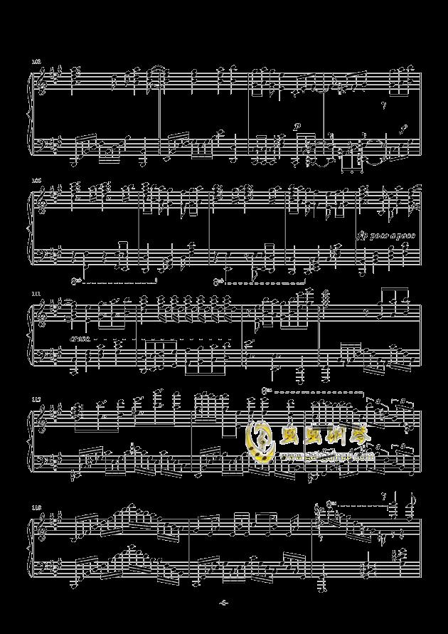 我们的战场钢琴谱 第6页