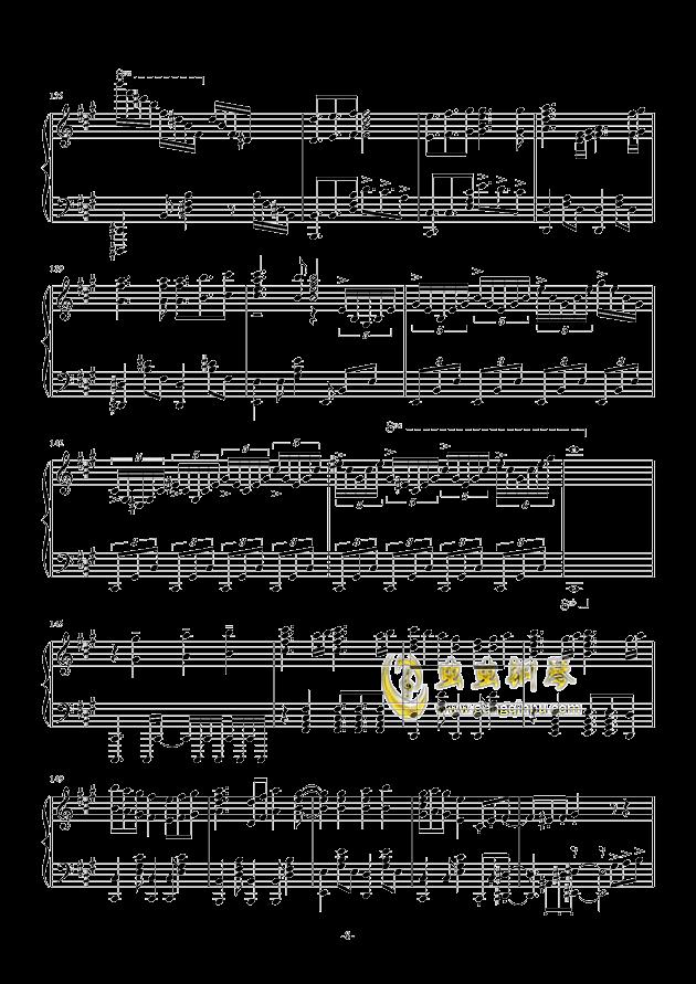我们的战场钢琴谱 第8页