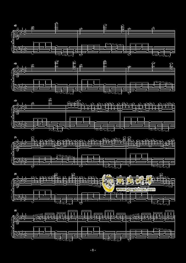 夏末雨空钢琴谱 第3页