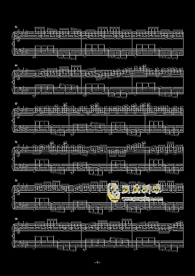 夏末雨空钢琴谱 第4页
