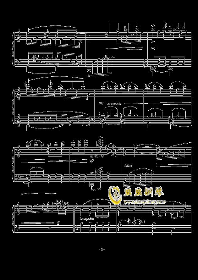 A大调幻想小品钢琴谱 第2页
