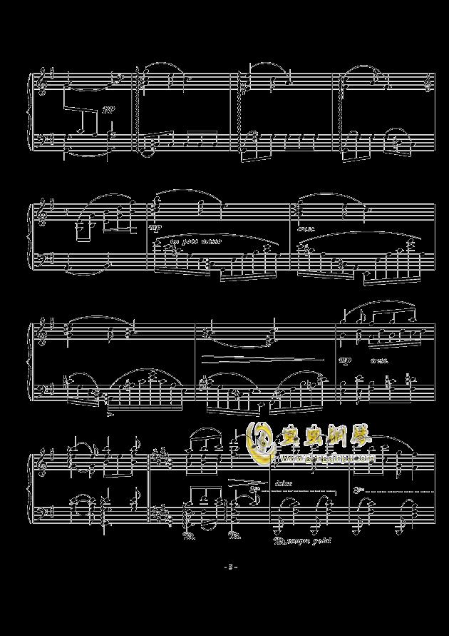 A大调幻想小品钢琴谱 第3页