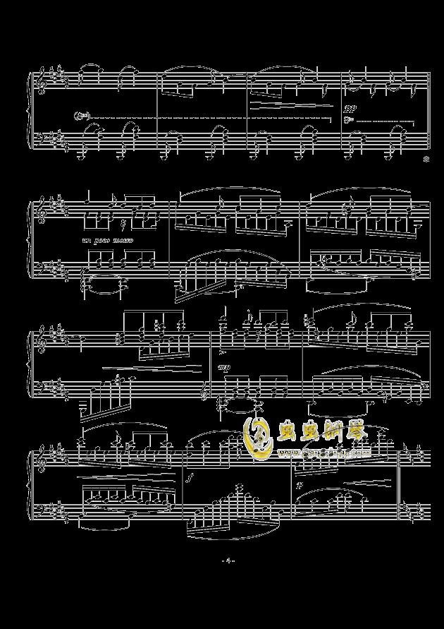 A大调幻想小品钢琴谱 第4页