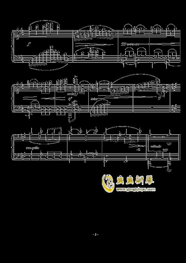 A大调幻想小品钢琴谱 第5页