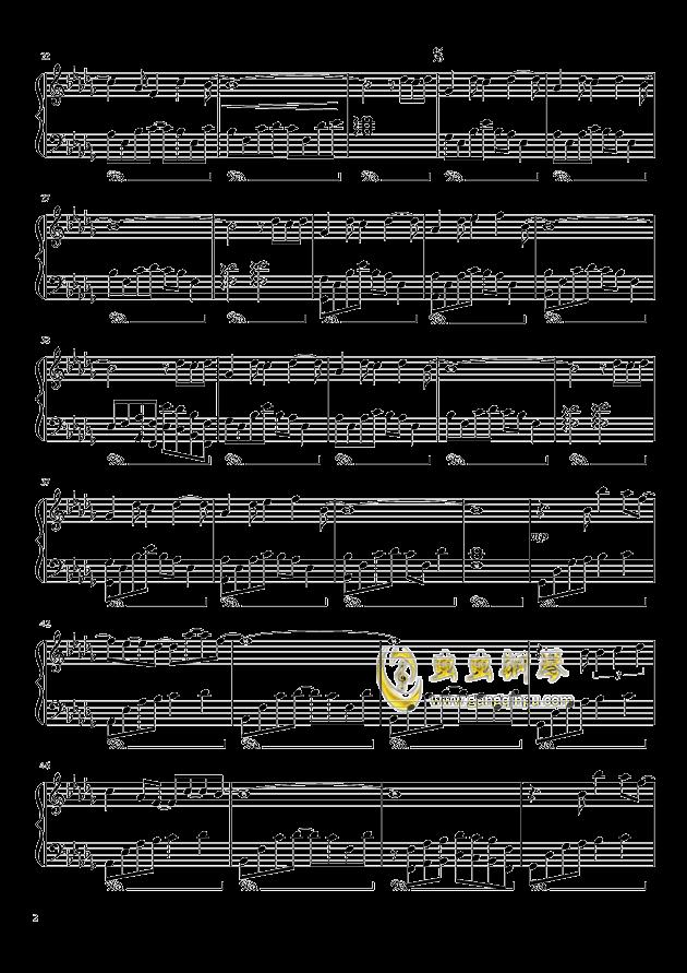 我好像在哪见过你钢琴谱 第2页