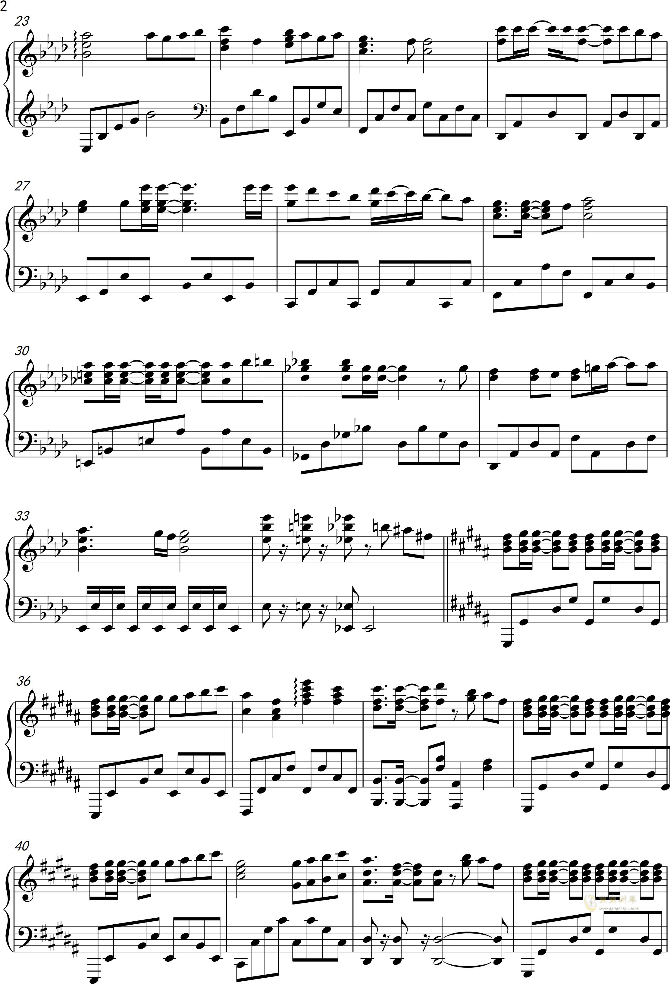 only my railgun钢琴谱 第2页
