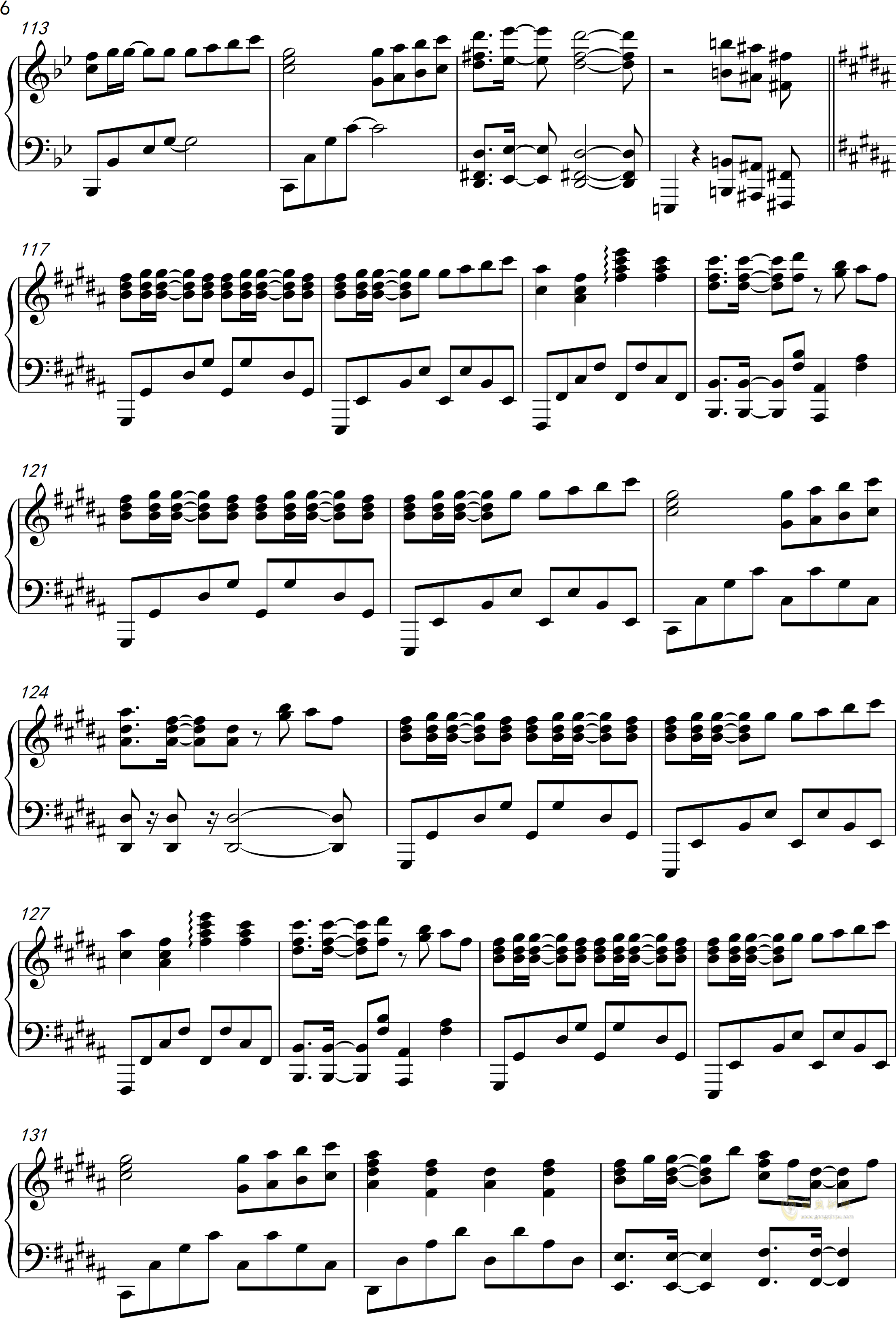 only my railgun钢琴谱 第6页