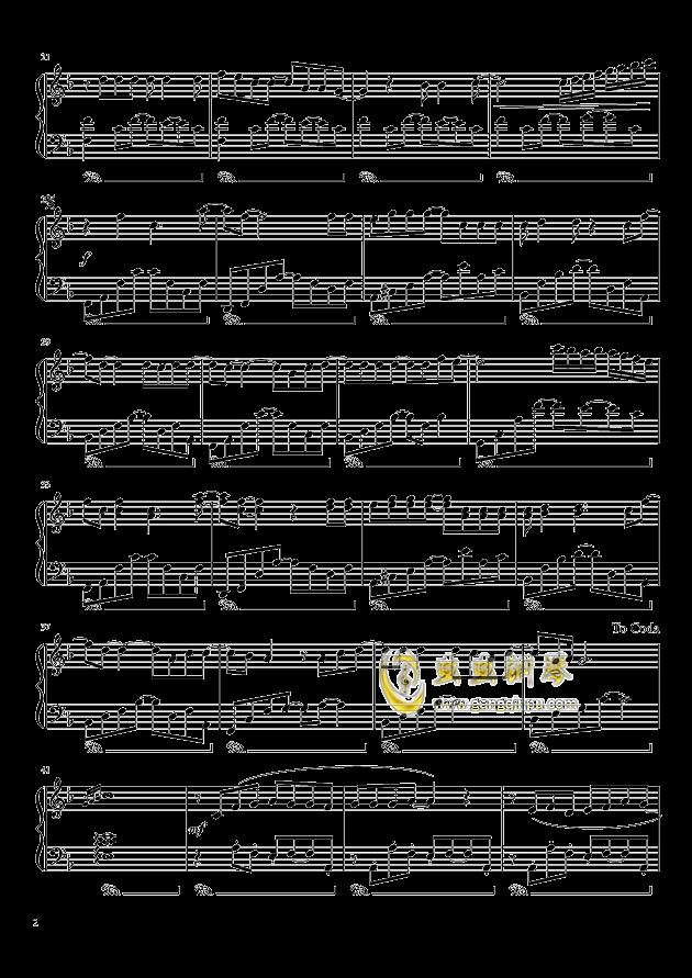我想钢琴谱 第2页