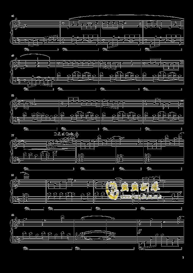 我想钢琴谱 第3页