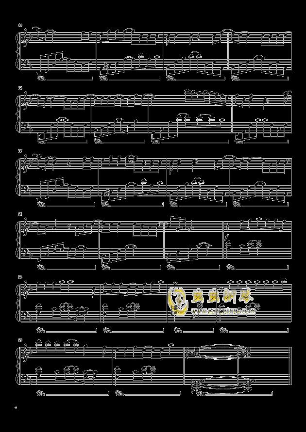 我想钢琴谱 第4页