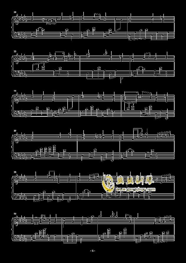 流行 二钢琴谱 第2页