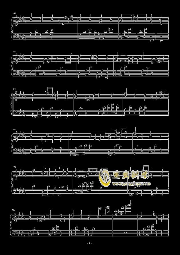 流行 二钢琴谱 第4页