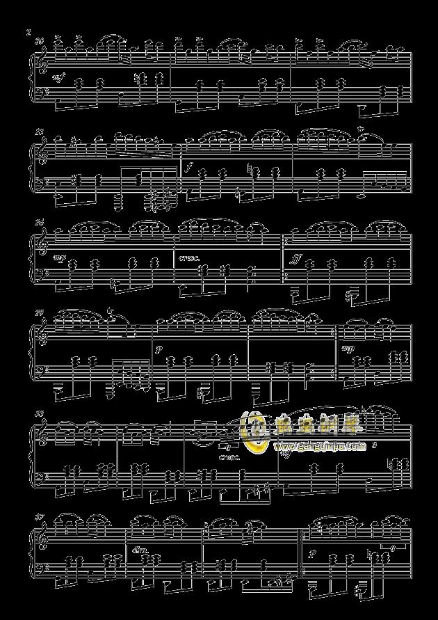 A小调圆舞曲,A小调圆舞曲钢琴谱,A小调圆舞曲钢琴谱网,A小调