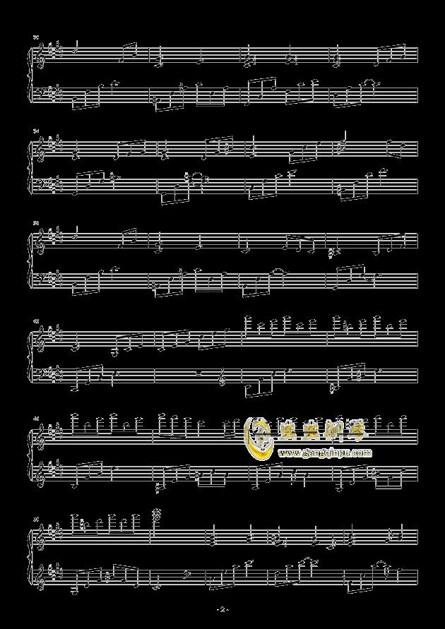 流行 三钢琴谱 第2页