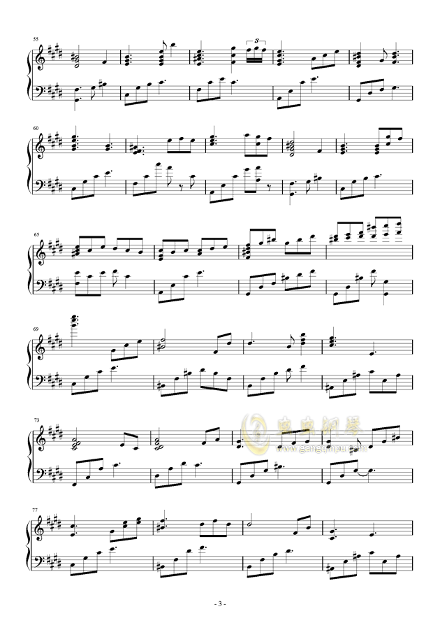 流行 三钢琴谱 第3页